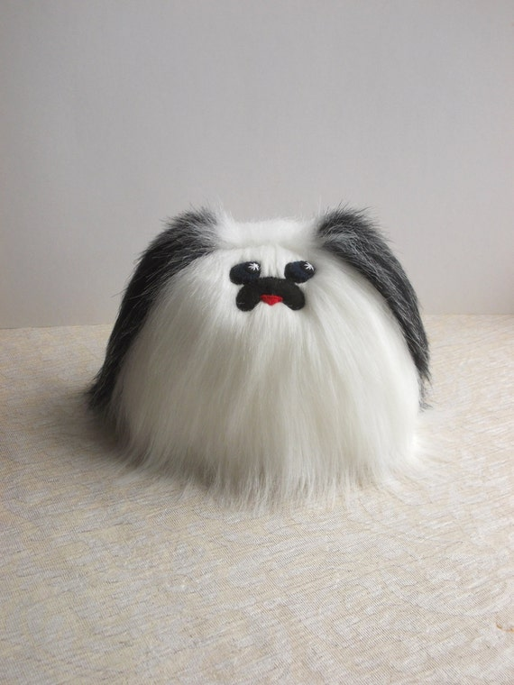 Small Dog Pekingese Shih Tzu Fluffy Dog Fuzzy Dog Stuffed Etsy
