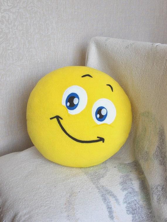 Smile Smiley Face Smiley Face Pilow Emoji Pillow Emoticon Etsy