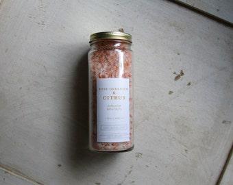 Bath Salts - Rose Geranium & Citrus
