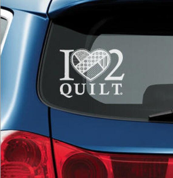 Eat Sleep Quilt Decal Quilting Car Truck Sewing Vinyl Window Decal Sticker