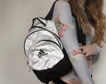 9a5d4ff59f VTG 90s Adidas Chrome Retro Mini BackPack Unisex 1990s Sportswear Athletic  1990s Accessories Street Wear Vintage Bag Adjustable Straps