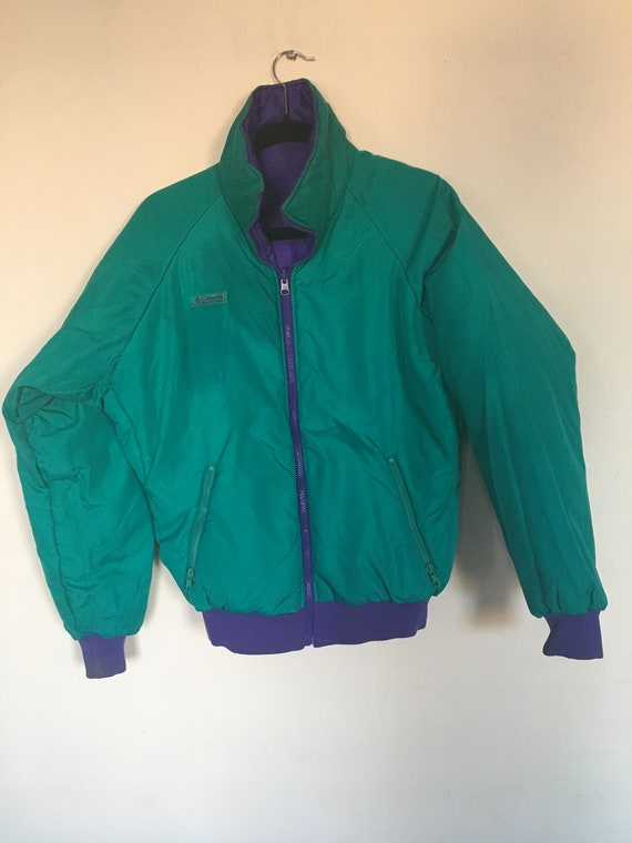 Vintage Columbia Sportswear jacket large 90/'s 80/'s color block street wear hiking mountain style hip hop new york city guide lit cool 420