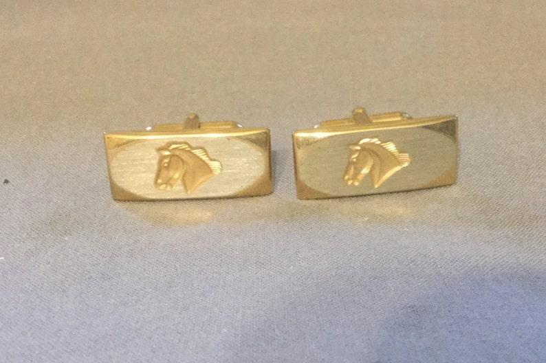 Vintage Cufflinks Horse Pioneer Set of two 2