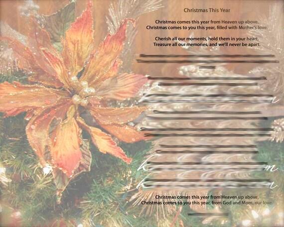 Weihnachten Gedicht Druck Für Diejenigen Die Ihre Mutter Oder Oma 8 X 10 Weihnachten Ohne Mama Weihnachten In Diesem Jahr Vielfalt Farbe Digitale