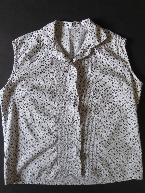 ROCKABILLY BLOUSE 1960s vintage Couture ditsy pri… - image 2