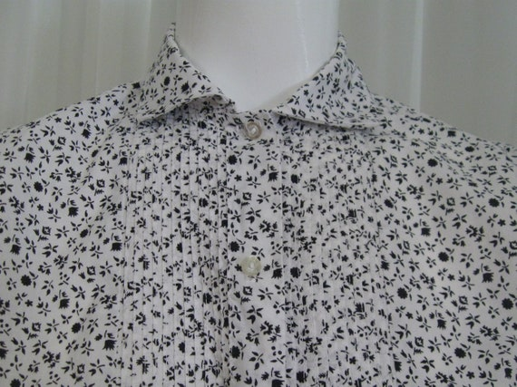 ROCKABILLY BLOUSE 1960s vintage Couture ditsy pri… - image 6