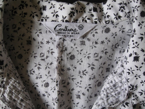 ROCKABILLY BLOUSE 1960s vintage Couture ditsy pri… - image 3