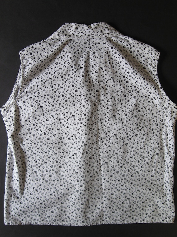 ROCKABILLY BLOUSE 1960s vintage Couture ditsy pri… - image 4