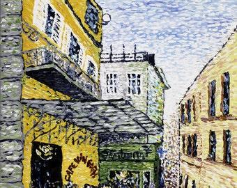 """ORIGINAL framed landscape painting of Van Gogh Cafe in Arles, """"The Day Cafe"""""""