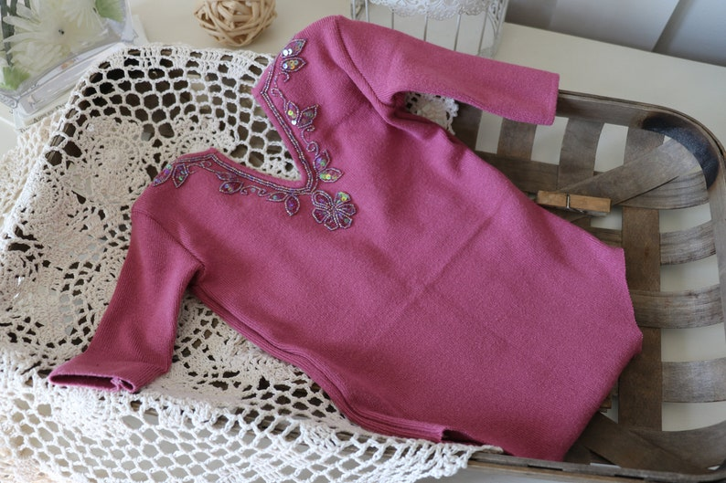 Sitter girl Romper   pink sweater romper image 0
