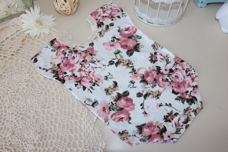 Sitter romper   white floral romper with cap sleeves image 0