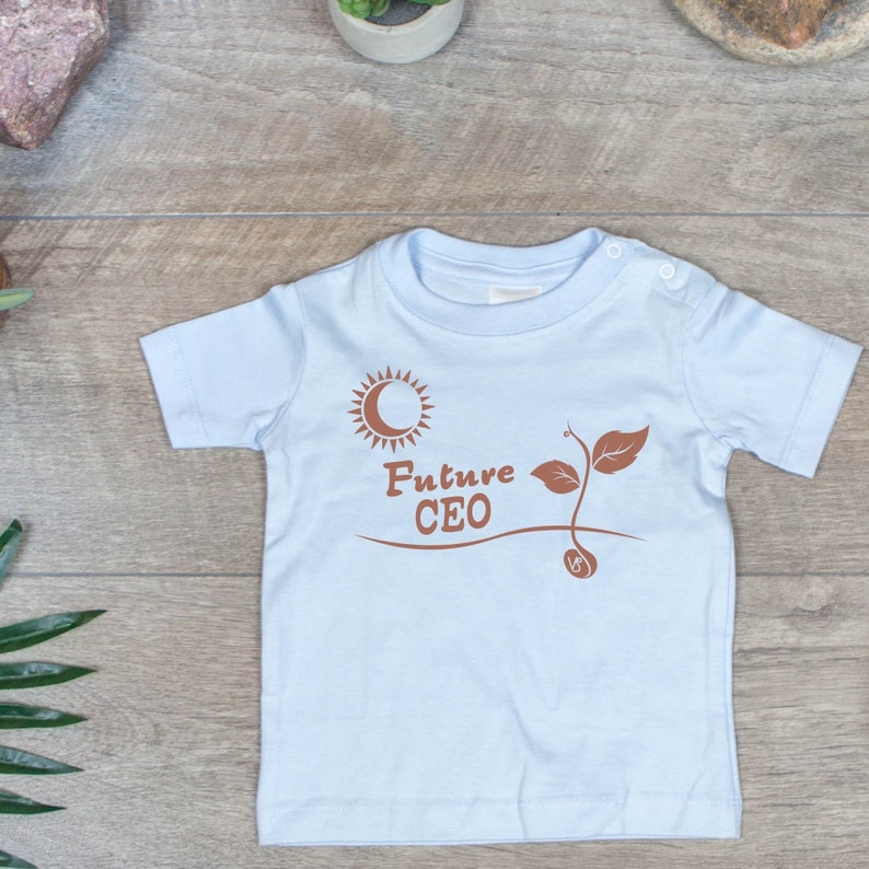 Future CEO Kids clothes Capricorn Sun Astrology Baby T-Shirt Bright Futures Child/'s Birthday Custom Made to Order Zodiac Gift