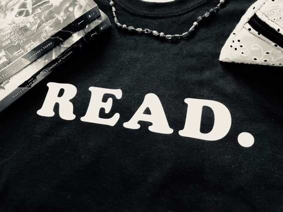 READ Tshirt Book Lover Bookworm Birthday Gift Reader