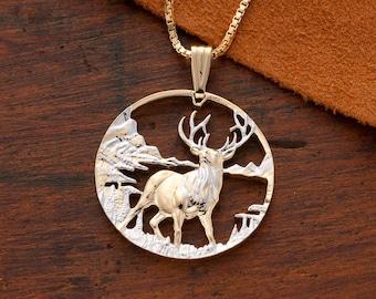 Elkabl\u00f6\u00f0 ~ Elk Antler /& Bronze Leaf Necklace ~ Nature Pendant ~ Pagan Jewelry ~ Nature Jewelry ~ Minimalist Jewelry