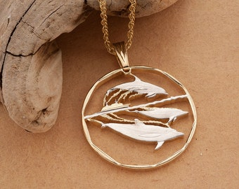 Dolphin Pendant /& Necklace By the Difference World Coin Jewelry