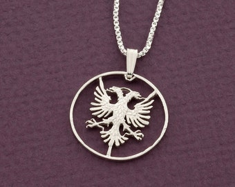Albanian necklace etsy sterling silver albanian eagle pendant silver albanian eagle pendant albanian coin jewelry albanian eagle jewelry 940s aloadofball Gallery