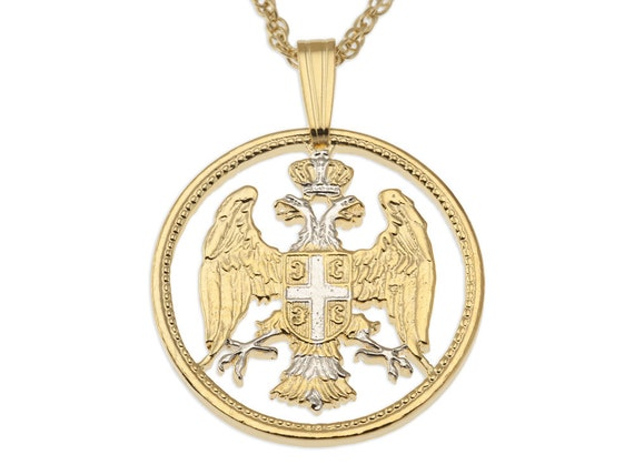Serbischen Adler Anhänger Und Kette Serbische 20 Para Eagle Etsy