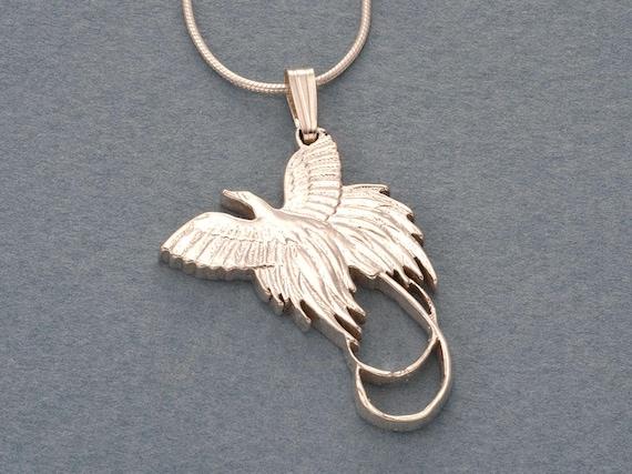 "# 238 1-1//8/"" diameter Bird New Zealand Kiwi Coin Pendant Hand cut"
