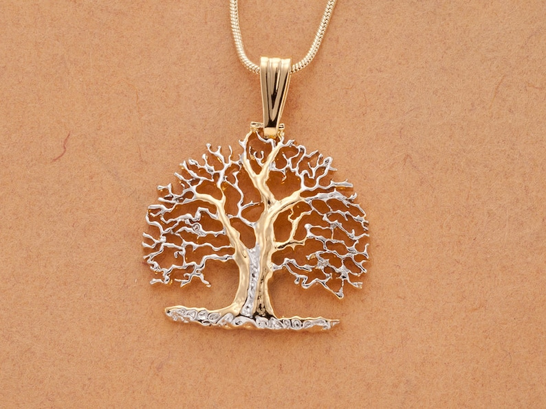 Tree of Life Pendant & Necklace Hand Pierced Medallion   image 0