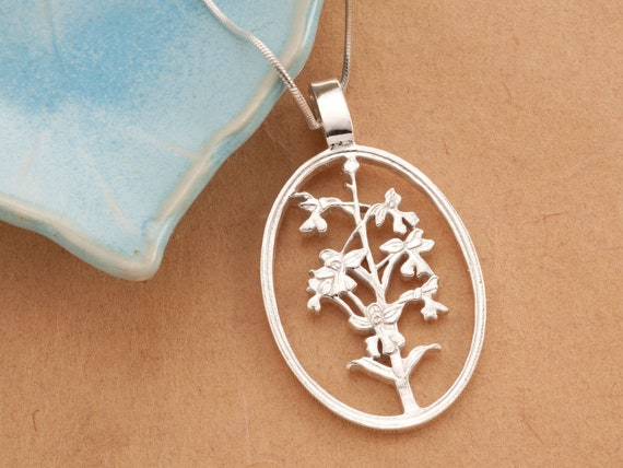 Orchid Pendant Floral Jewelry Gifts For Woman Jewelry For Woman Orchids Necklace For Woman Flower Jewelry # 800 Orchid Jewelry