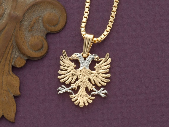 Albanian eagle pendant and necklace albanian jewelry 14 etsy image 0 aloadofball Gallery