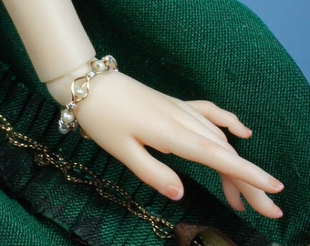 Art Nouveau Pearl Bracelet for Any Size of Doll: Momoko, Barbie, Enchanted Doll, Popovy, MSD, or SD