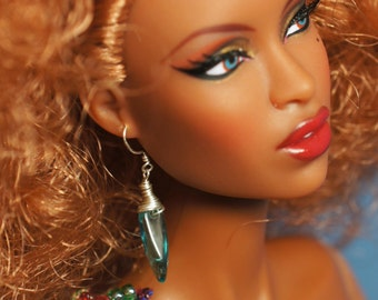 Sky Blue Earrings for Any Size Doll: Barbie, Enchanted Doll, Momoko, Fashion Royalty, MSD, SD