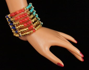 """Egyptian Queen Bracelet for Tonner, Ellowyne Wilde, MSD bjd, and other 16"""" fashion dolls"""