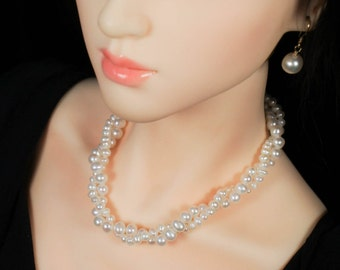 Twined Pearls for Any Size of Doll, such as SD, MSD, Barbie, Enchanted Doll, Tonner, Ellowyne Wilde, Momoko or Popovy