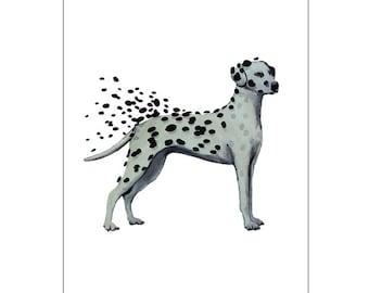 4e050561 Dalmatian losing dots, dalmatian poster, dalmatian art, preppy art,  dalmatian army, chihuahua is watching you, dog art, dog fun