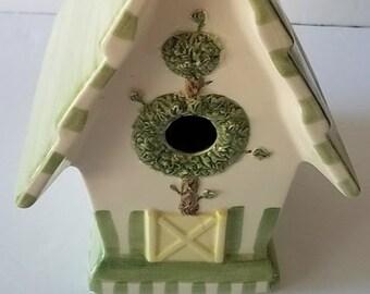 Vintage Mud Pie Ceramic Birdhouse