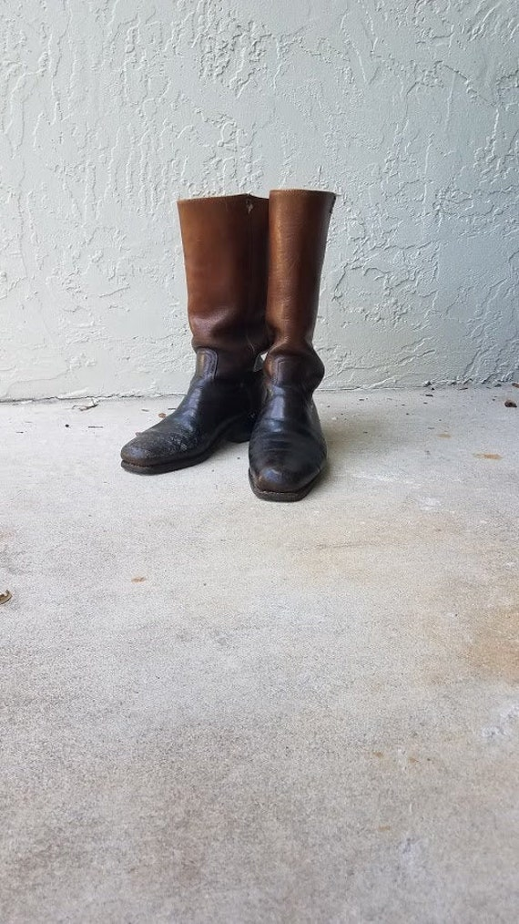 Vintage leather Frye boots