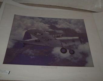 Vintage WW II Airplane Print #3