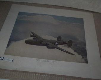 Vintage WW II Airplane Print #1