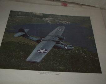 Vintage WW II Airplane Print #5
