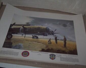 Vintage WW II Airplane Print # 2