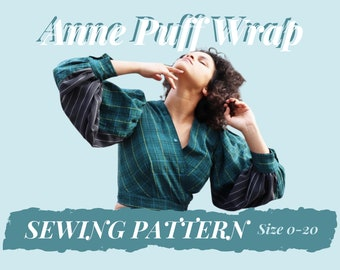 Anne Puff Wrap PATTERN Size 0-20 - with Youtube Sewing Tutorial