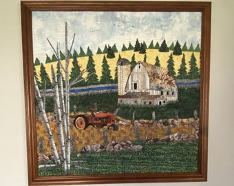 """Art Quilt titled """"River Of Old Dreams"""""""