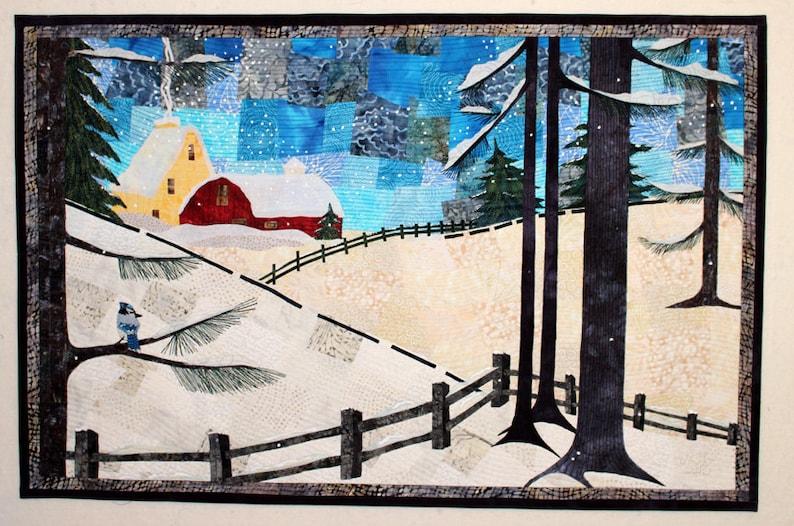 Winter's Charm  Art Quilt  Art  Quilt  Wall Hanging  image 0