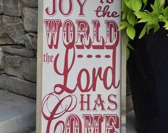 Christmas Decor, Christmas Sign, Christmas Decoration - Joy to the World- Christmas Gift, Holiday Decor,  Wood Sign