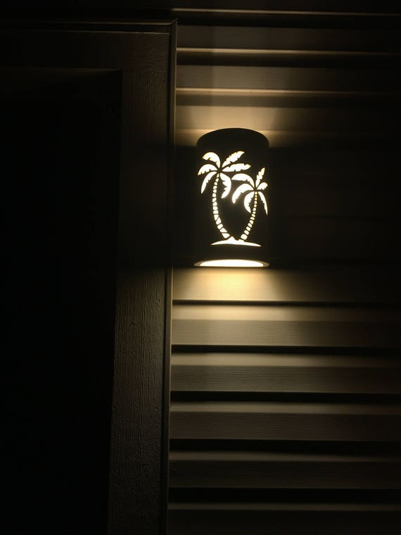 best sneakers 9129e 7fbd7 Palm Tree Wall Sconce, Outdoor Wall Light, Beach House Lights, Dark Sky  Lights, Tropical Lighting, Coastal Lighting, wet location lighting