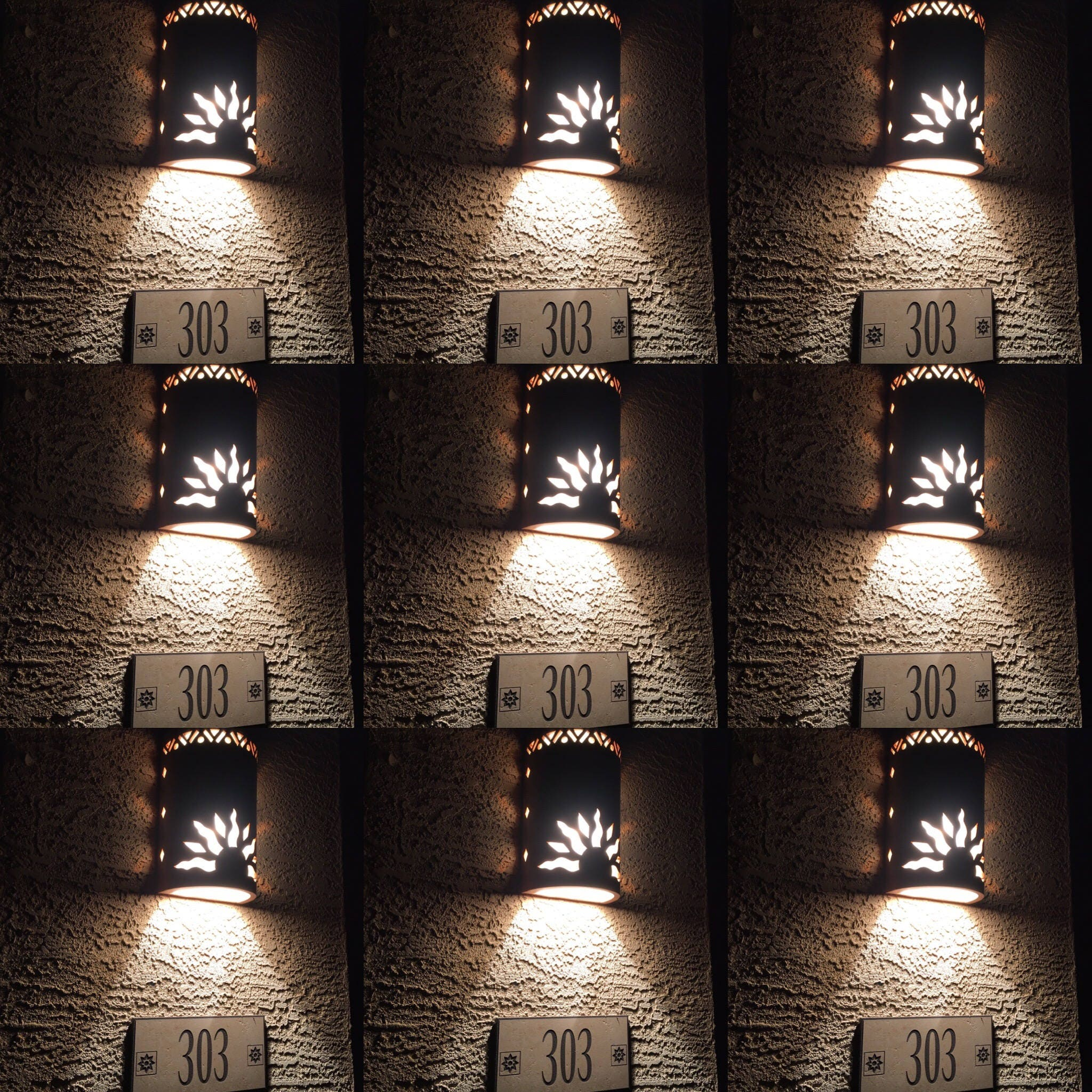 Skyrim Wall Sconces Not Working: Outdoor Wall Sconce Half Sun And Details Rustic Light