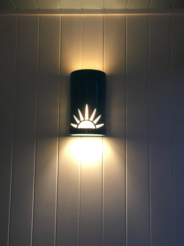 Sun rise ceramic outdoor wall sconce light custom made etsy image 0 aloadofball Choice Image