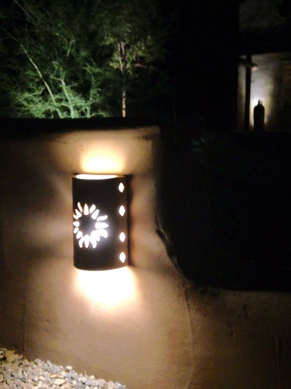 Wall Light New Sun Southwestern Lighting Outdoor Wall Etsy