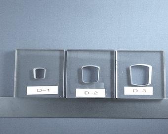 BulletProof Silhouette Press Dies Tapered Squares Set - our D123 series