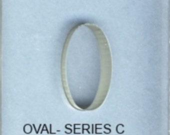 BulletProof Silhouette Press Dies Individual Oval Shape C