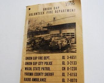 Vintage Union Gap Volunteer Fire Department 1958