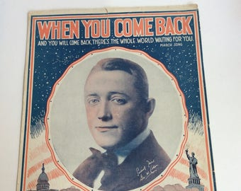 Vintage Sheet Music, When You Come Back