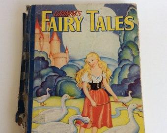 Vintage Children's Book, Grimm's Fairy Tales