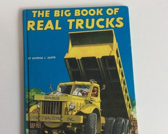 Vintage Children's Book, The Big Book of Real Trucks